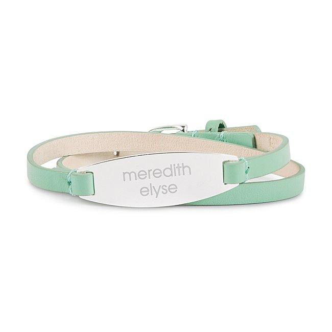 Mint Leather Wrap Bracelet...