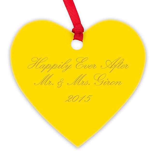 Yellow Acrylic Heart...