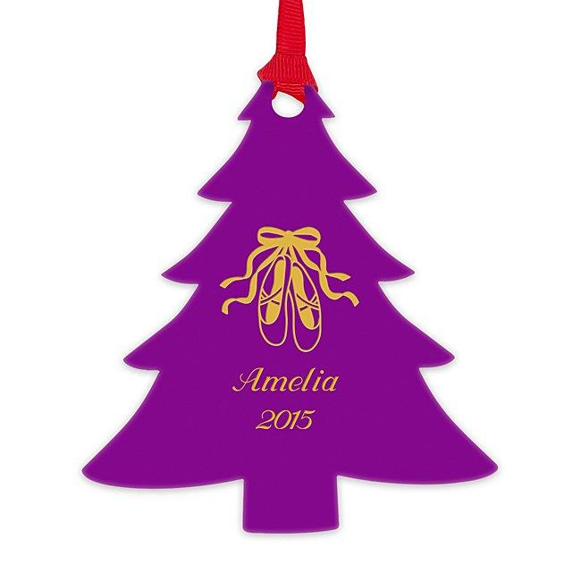 Purple Acrylic Tree Ornament...