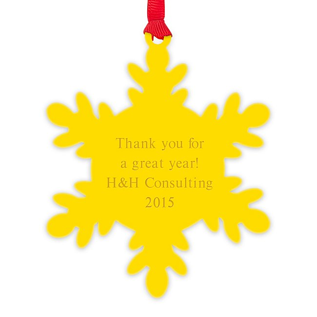 Yellow Acrylic Snowflake...