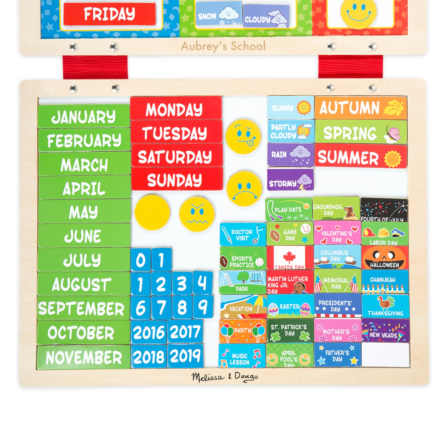 and doug my first daily magnetic calendar