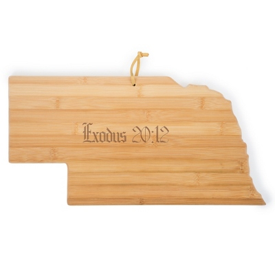 Nebraska Bamboo Cutting Board - Kitchen Tools & Accessories - Cooking & Kitchen Gifts - For The Couple - Personalized At Things Remembered