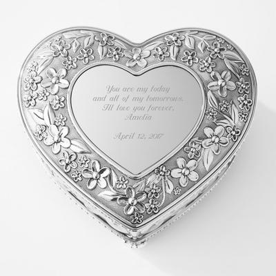 Image Flourish Musical Heart Keepsake Box