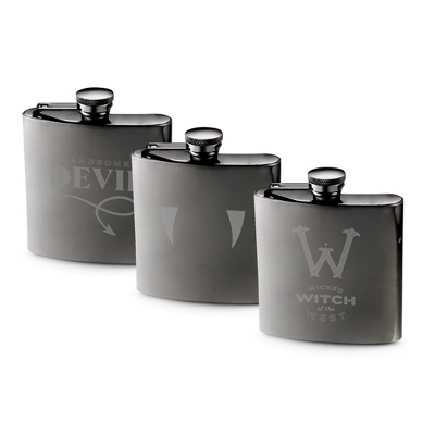 Halloween Gunmetal Flask - Drinkware - Bar Accessories - His Gifts - Personalized At Things Remembered