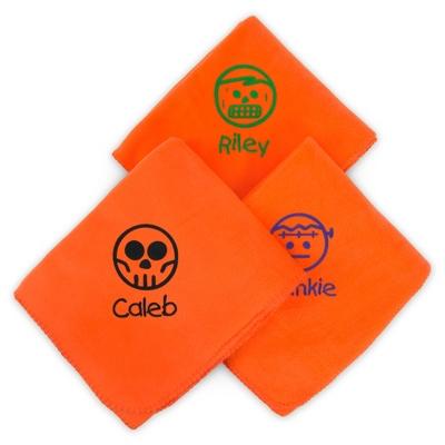 Image Halloween Orange Fleece Blankets