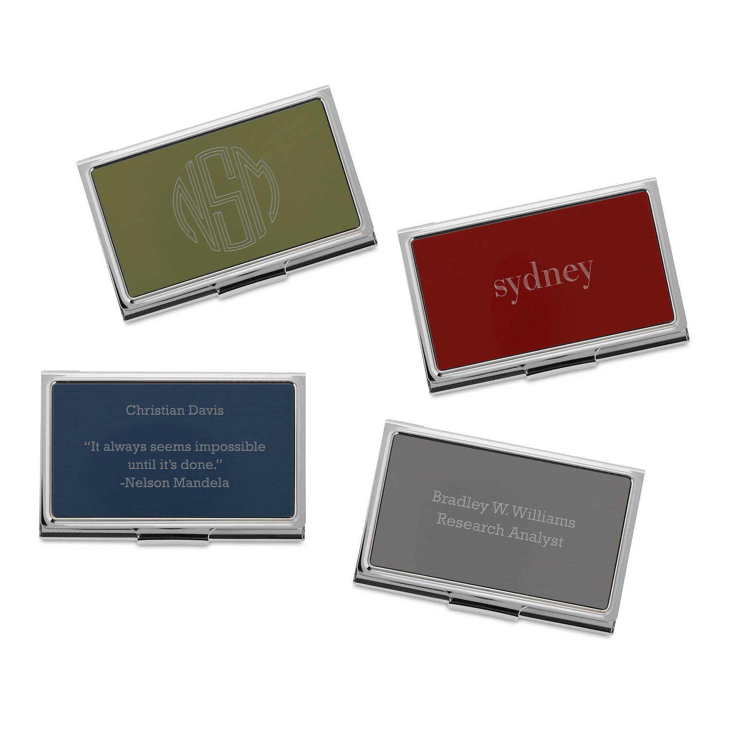 personalized card cases holders at things remembered