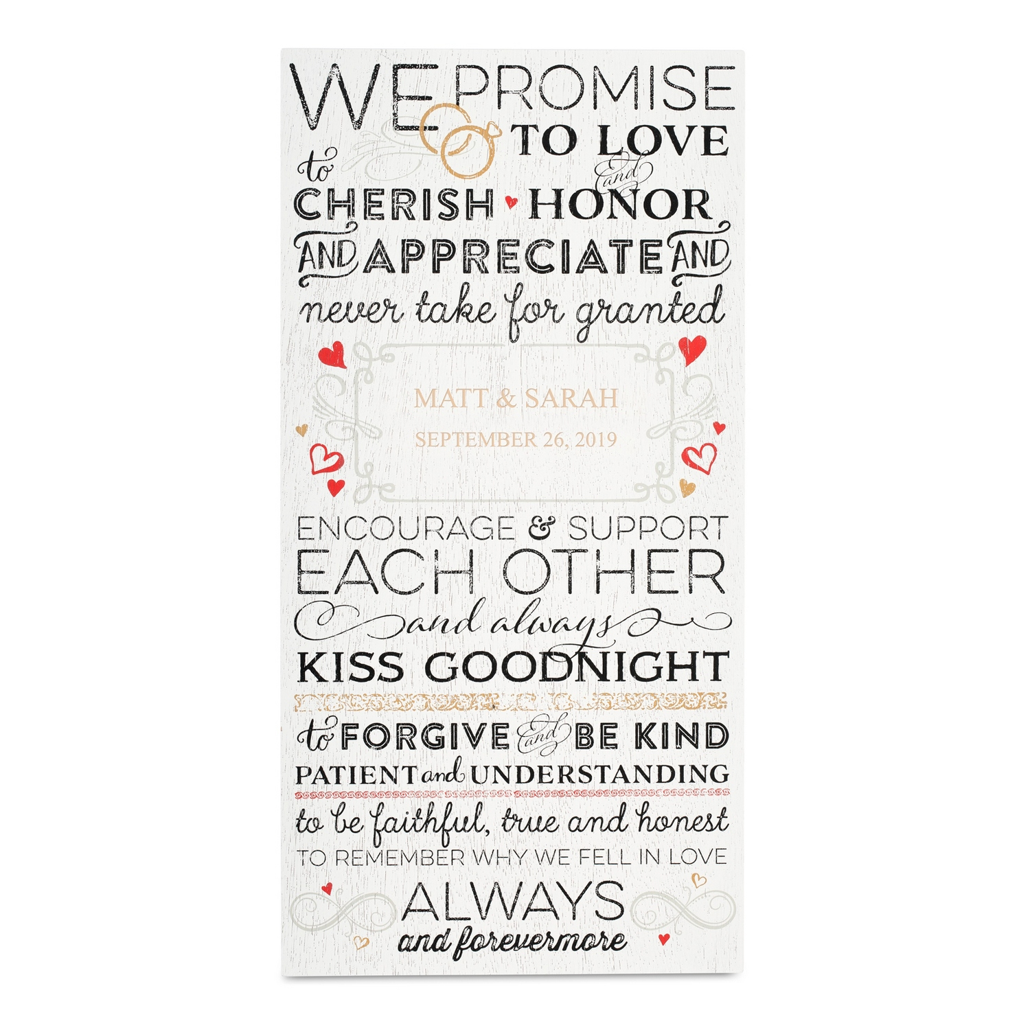 Vows wall art wedding vows wall art junglespirit Image collections