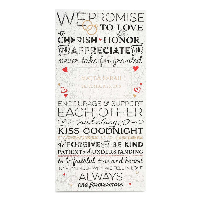 Wedding vows wall art junglespirit Choice Image