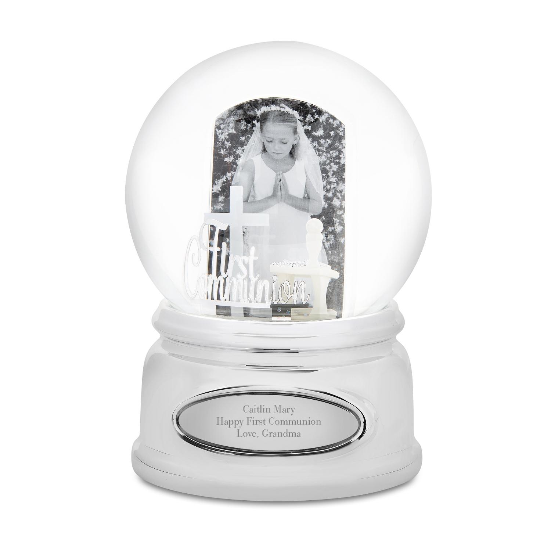First Communion Photo Snow Globe