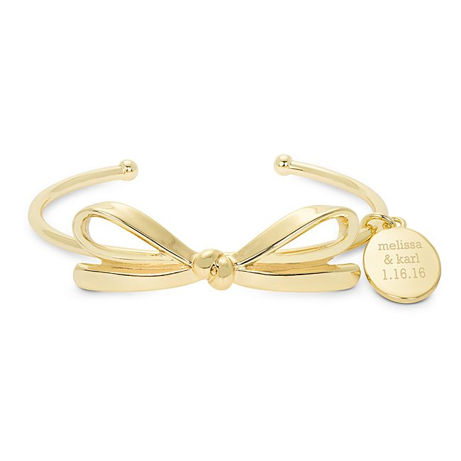 Gold Plated Bow Cuff...