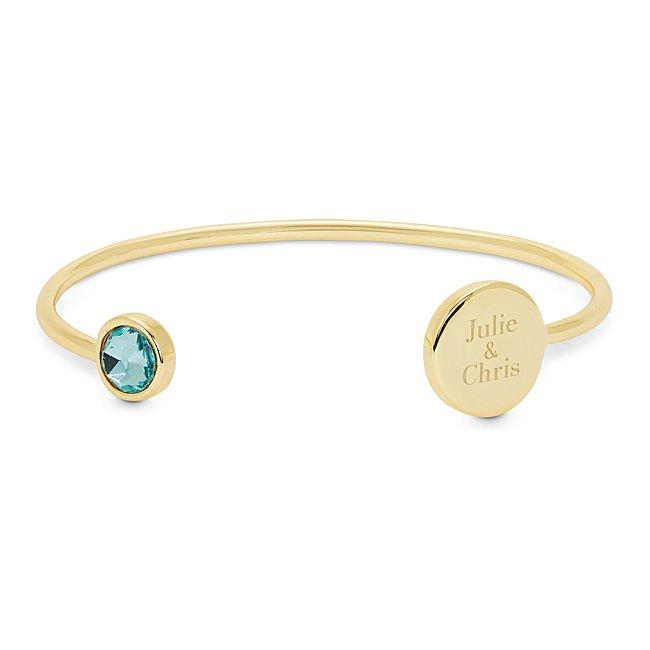 Blue Crystal Gold Cuff...