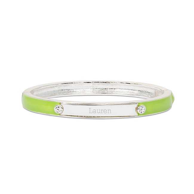 Lime Green Enamel Bangle...