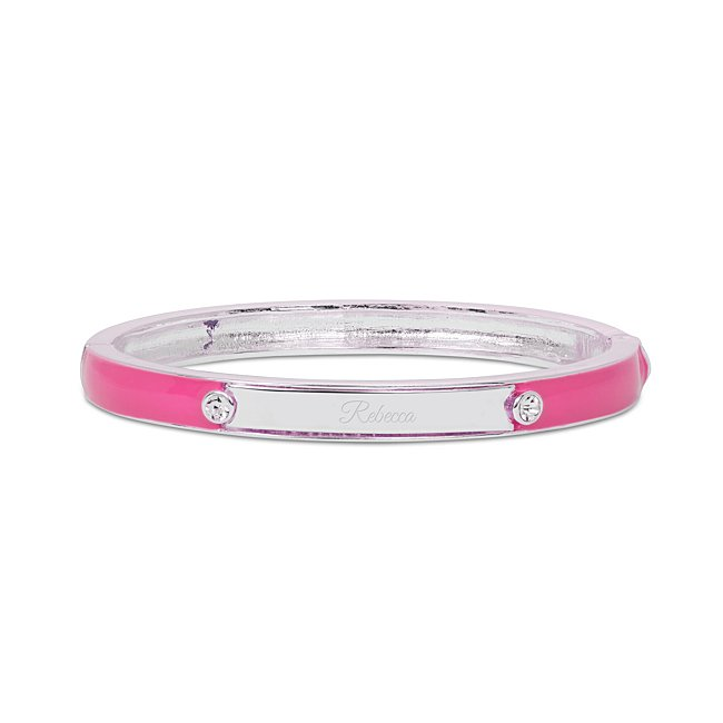 Pink Enamel Bangle Id...