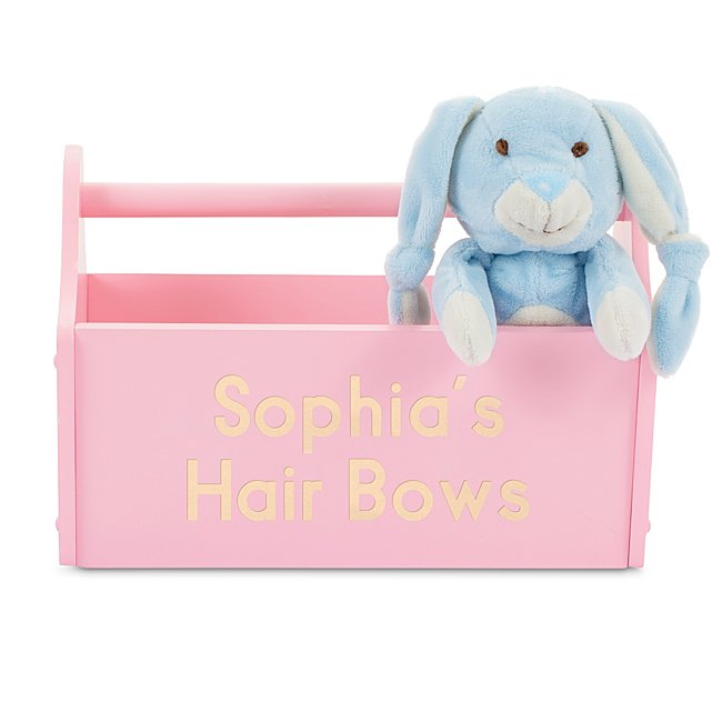 Pink Wood Toy Caddy @...