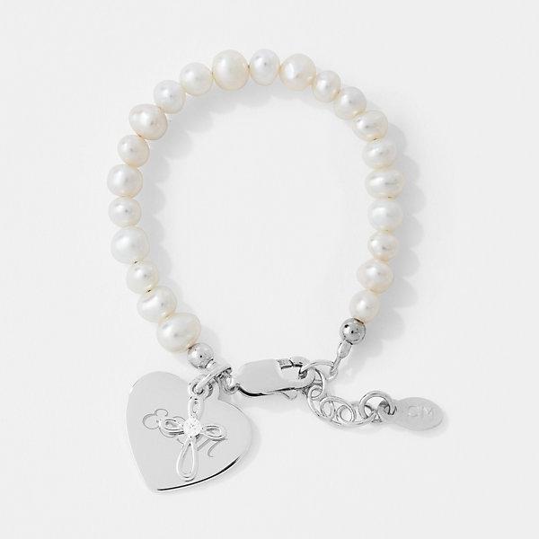 baby bracelet Personalized 182a name bracelet Baptism Baby Baptism Birth boy baptismary bracelet girl MiPerla Heart Gift