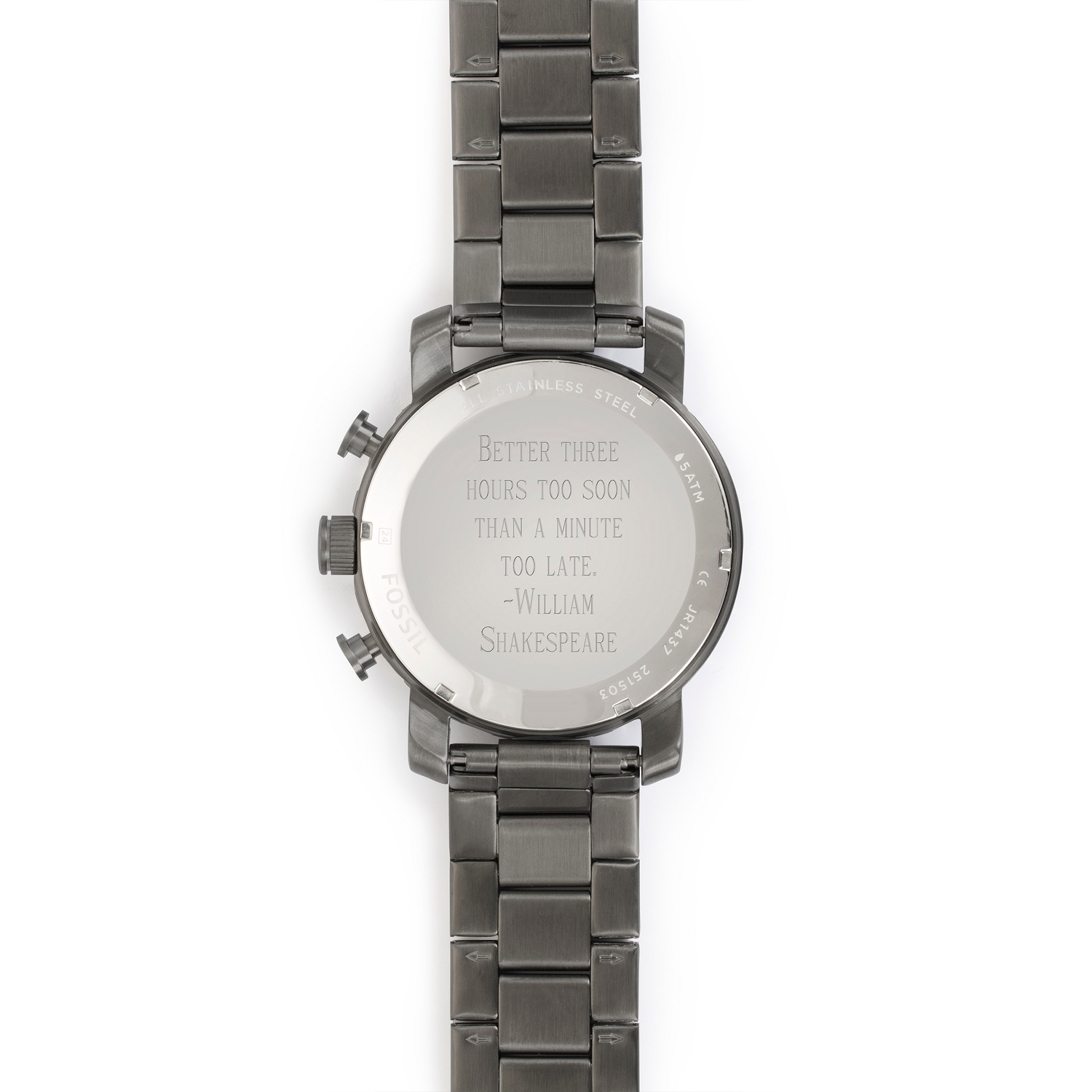 2d469d510edf tr-w-product-widget. Fossil Mens Nate Chronograph Smoke Stainless Steel  Watch