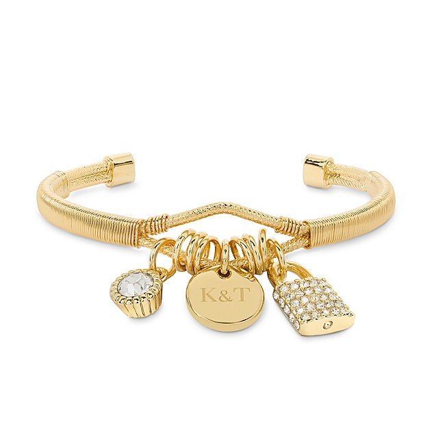 Gold Pave Lock Charm...
