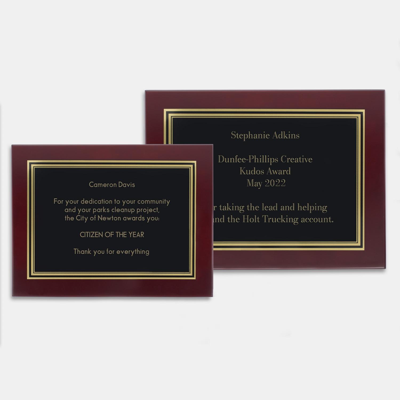 Engraved plaques at things remembered mahogany plaques mahogany plaques jeuxipadfo Images