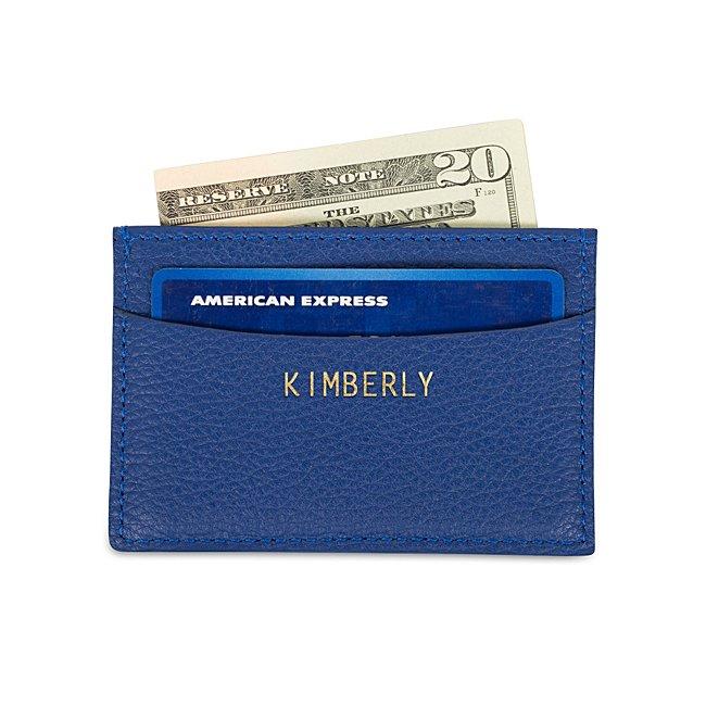 Blue Leather Slim Card...