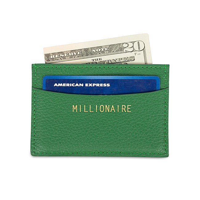 Green Leather Slim Card...