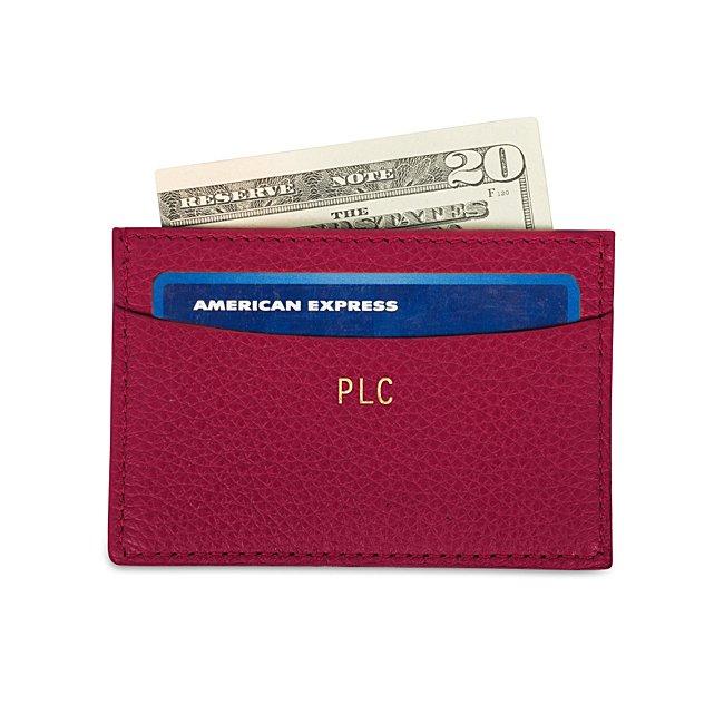 Pink Leather Slim Card...