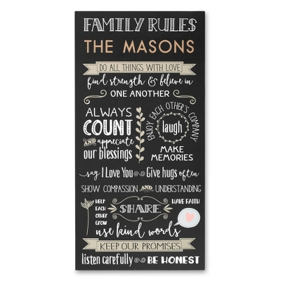 Family Rules Wall Plaque ...