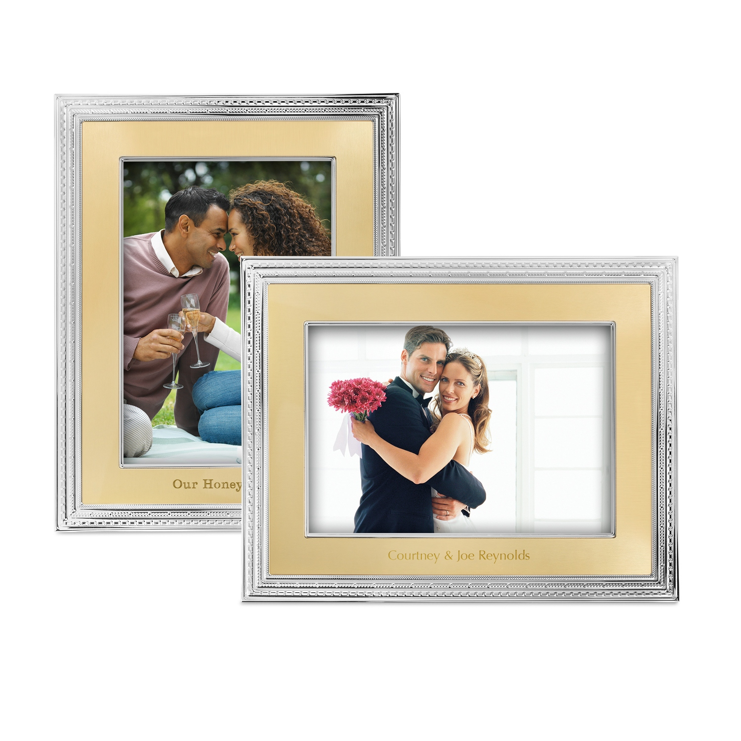 Vera Wang Wedgwood With Love Gold 8x10 Frames