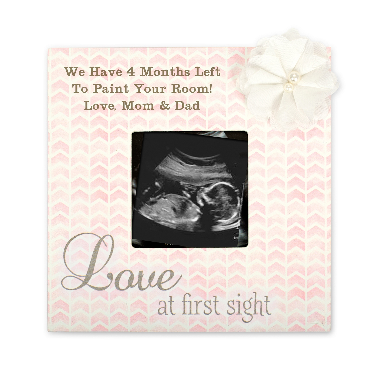 Love at first sight sonogram picture frame pink love at first sight sonogram picture frame jeuxipadfo Images