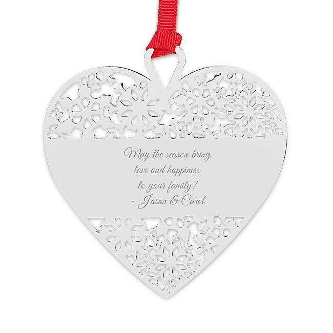Heart Snowflake Ornament...