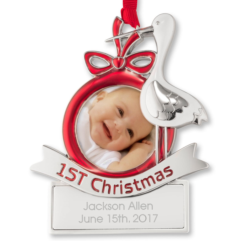 Christmas ornament frame - Stork Photo Frame Ornament