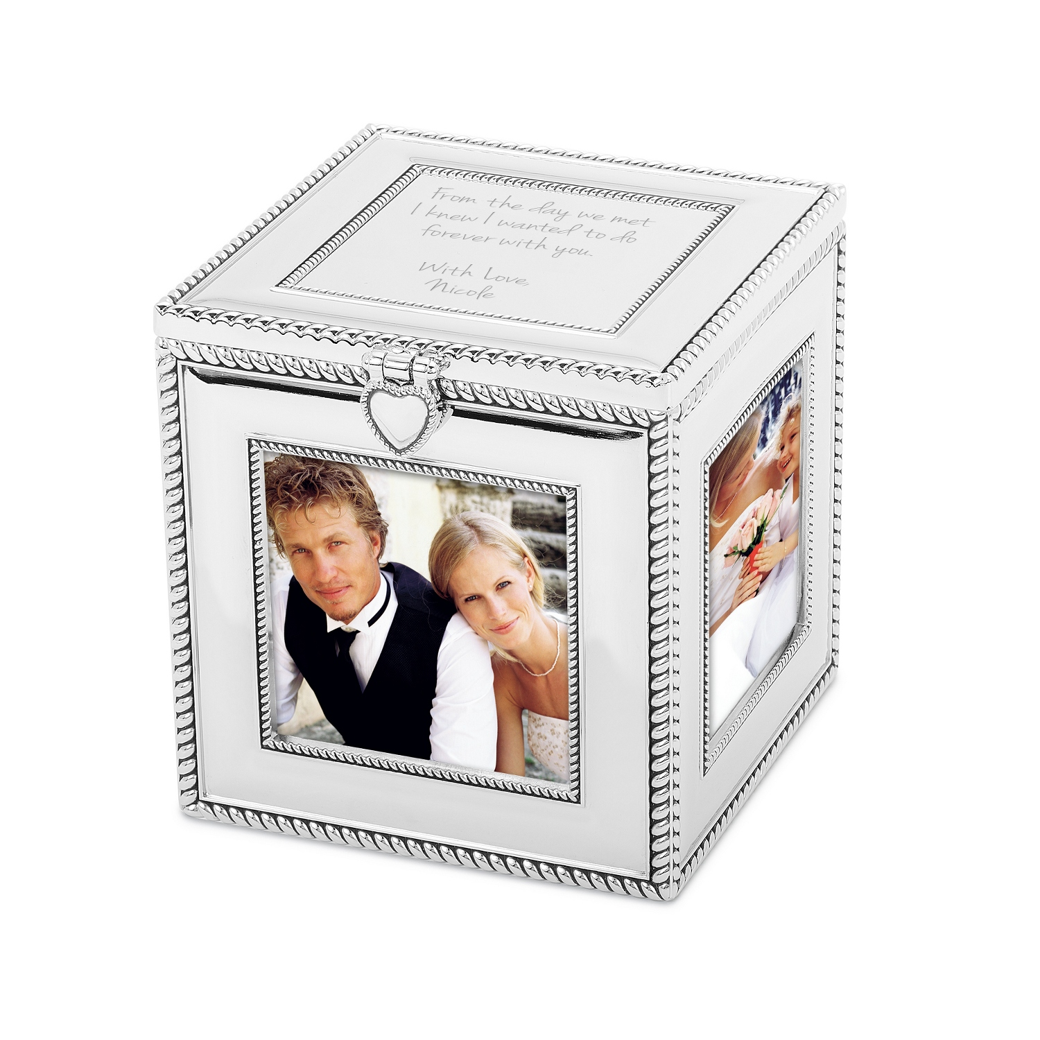 Personalized picture frames for children at things remembered silver cube frame jeuxipadfo Choice Image