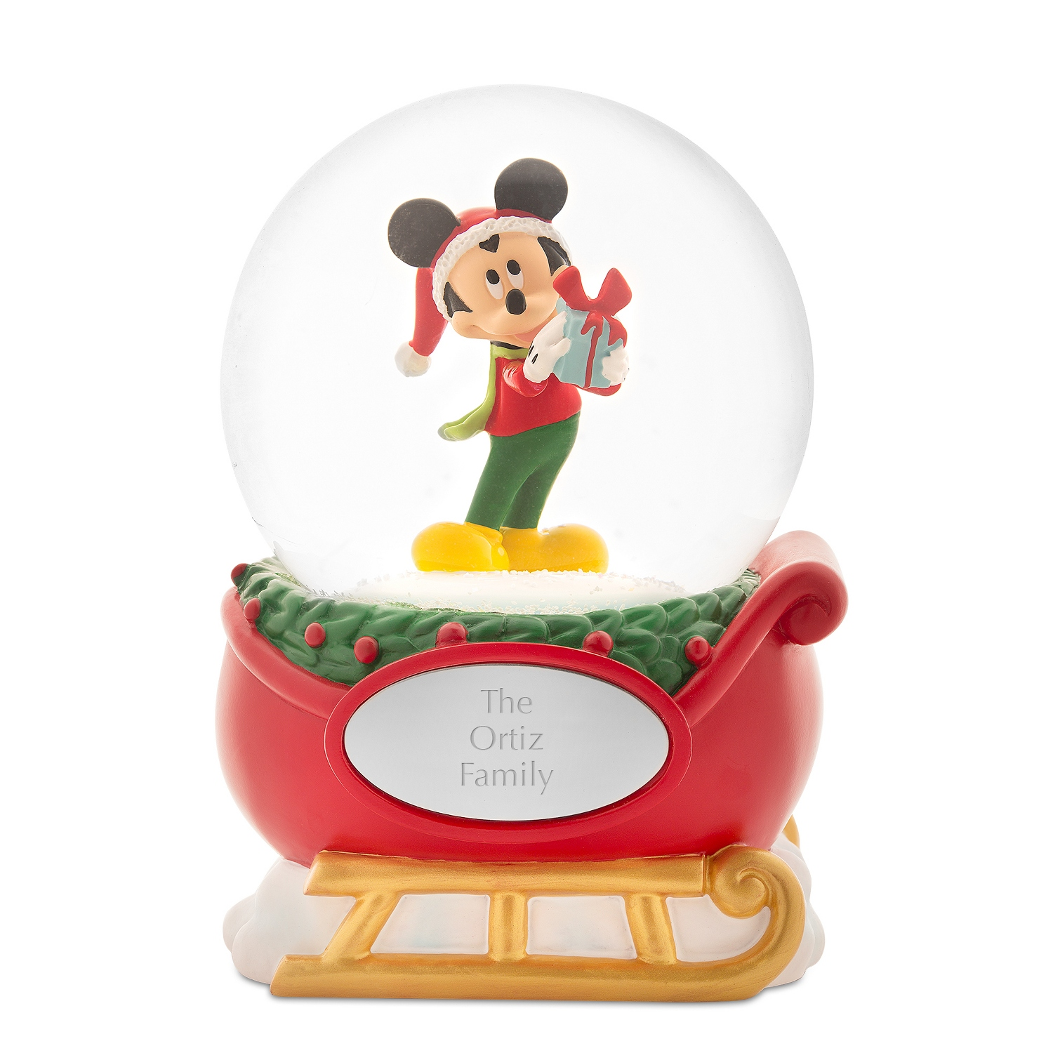Disney Mickey Mouse Holiday Snow Globe