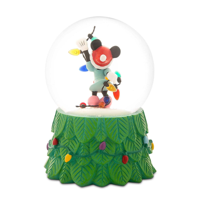 Disney Christmas Snow Globes.Disney Minnie Mouse Holiday Snow Globe