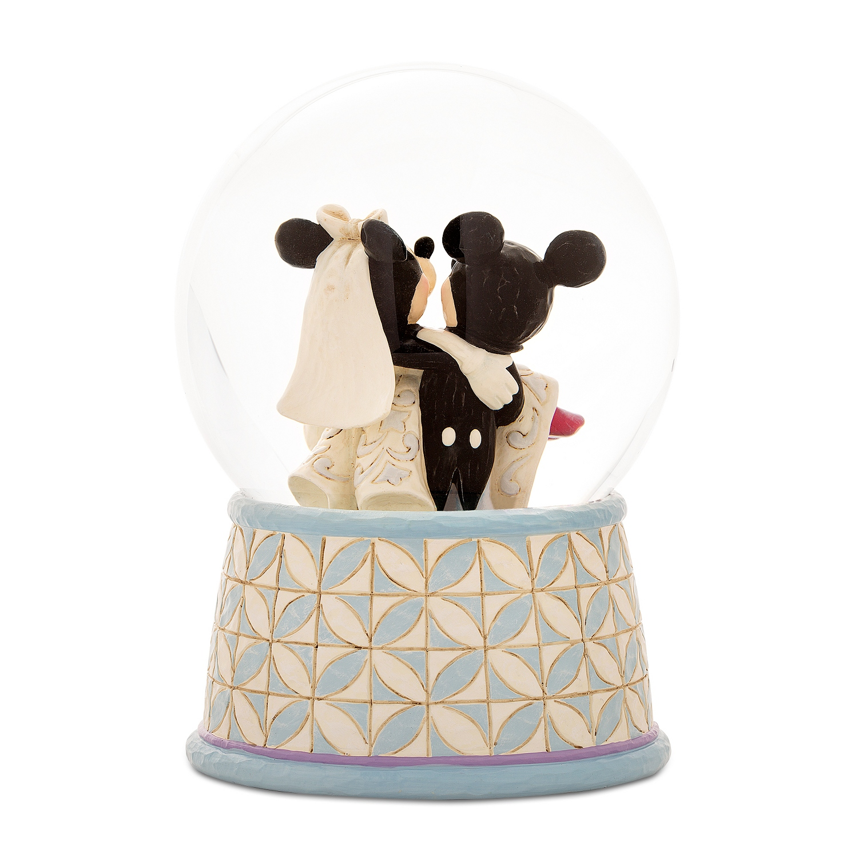 Mickey And Minnie Wedding.Jim Shore Disney Traditions Mickey Minnie Snow Globe