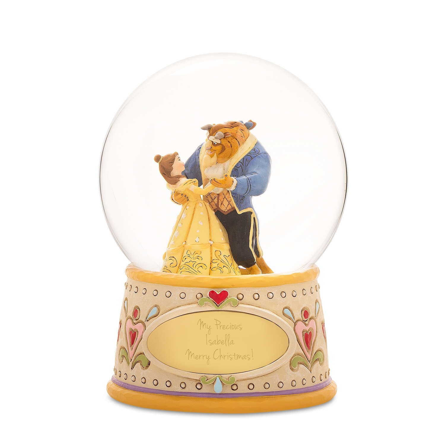 6aa3dc74a Jim Shore Disney Traditions Beauty and the Beast Snow Globe