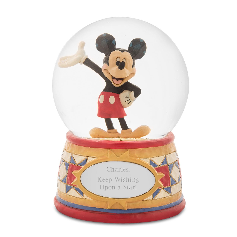 Jim Shore Disney Traditions Mickey Mouse Snow Globe