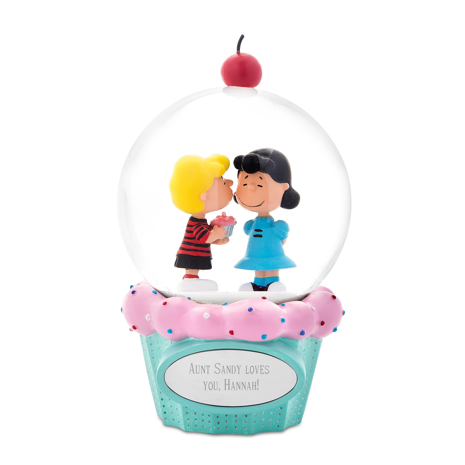 Peanuts Schroeder And Lucy Cupcake Snow Globe