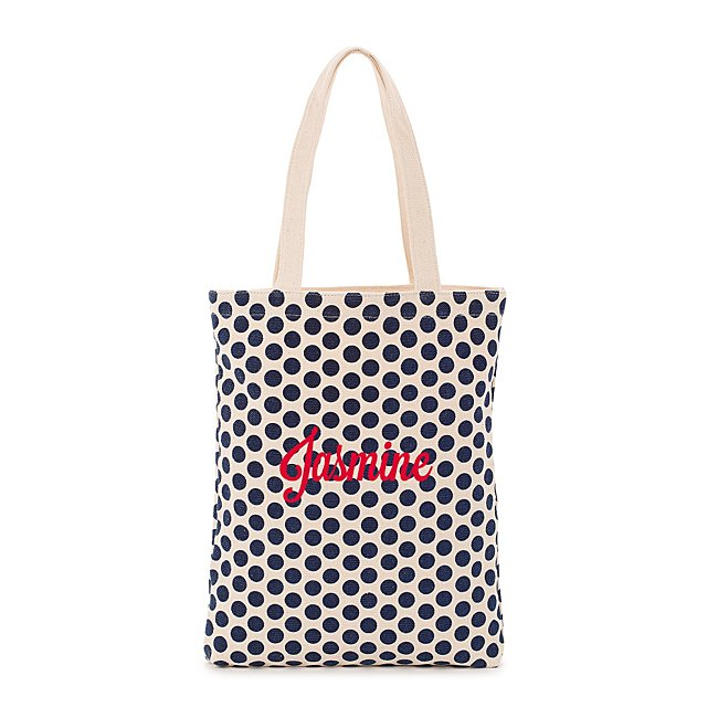 Navy Dot Tote @ Things...