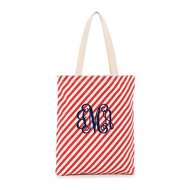 Red Stripe Tote @...
