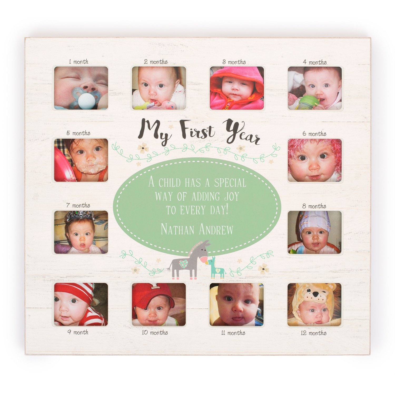 Personalized baby keepsakes at things remembered zoo 12 month frame negle Gallery