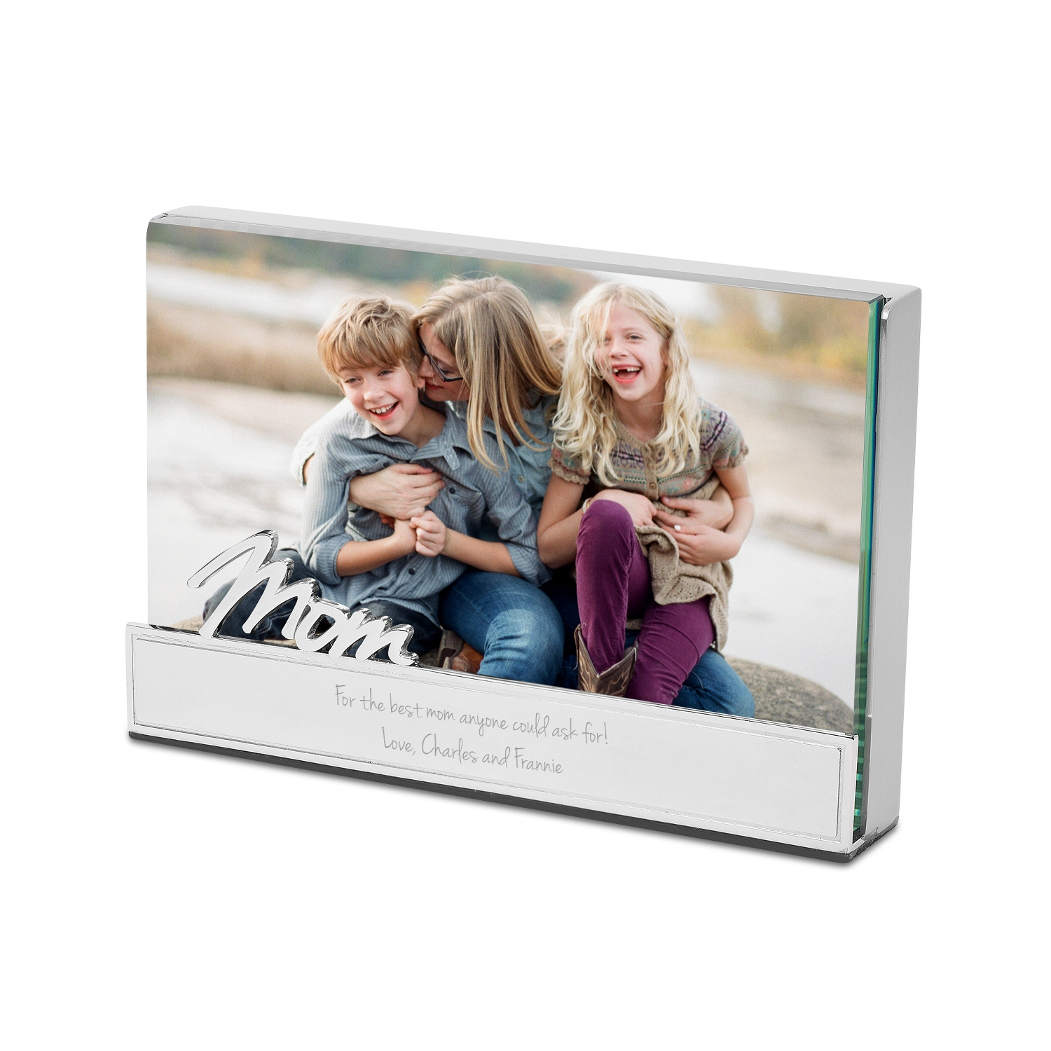 mom glass block floating frame - Mom Picture Frame