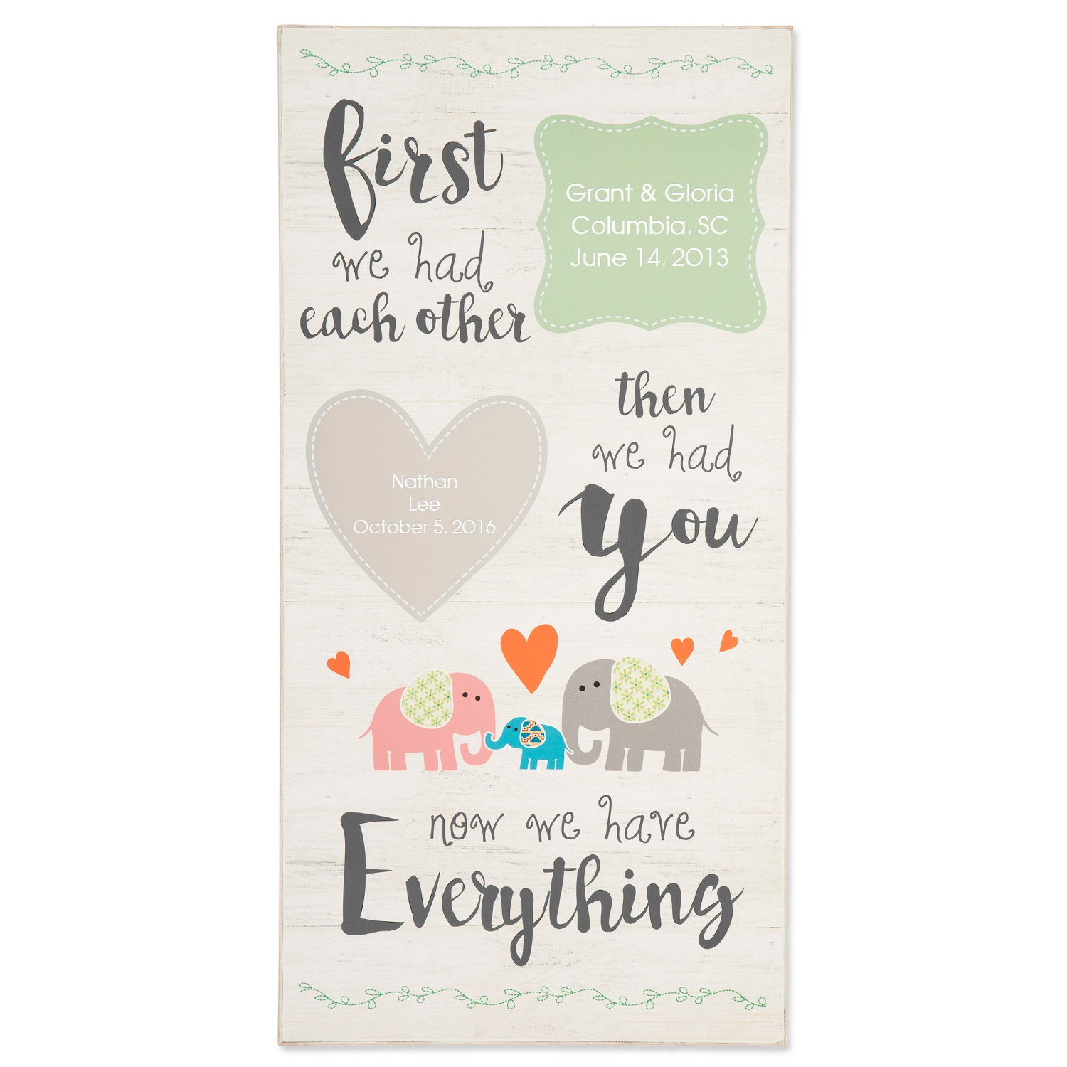Personalized gifts for babies and newborns at things remembered zoo animal baby wall art negle Image collections