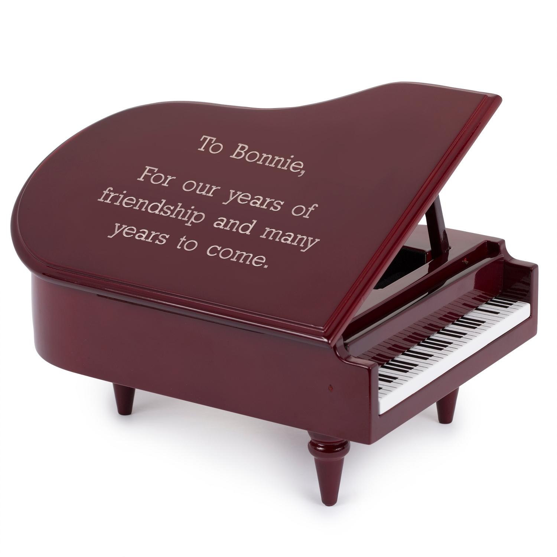 Mahogany Piano Music Box
