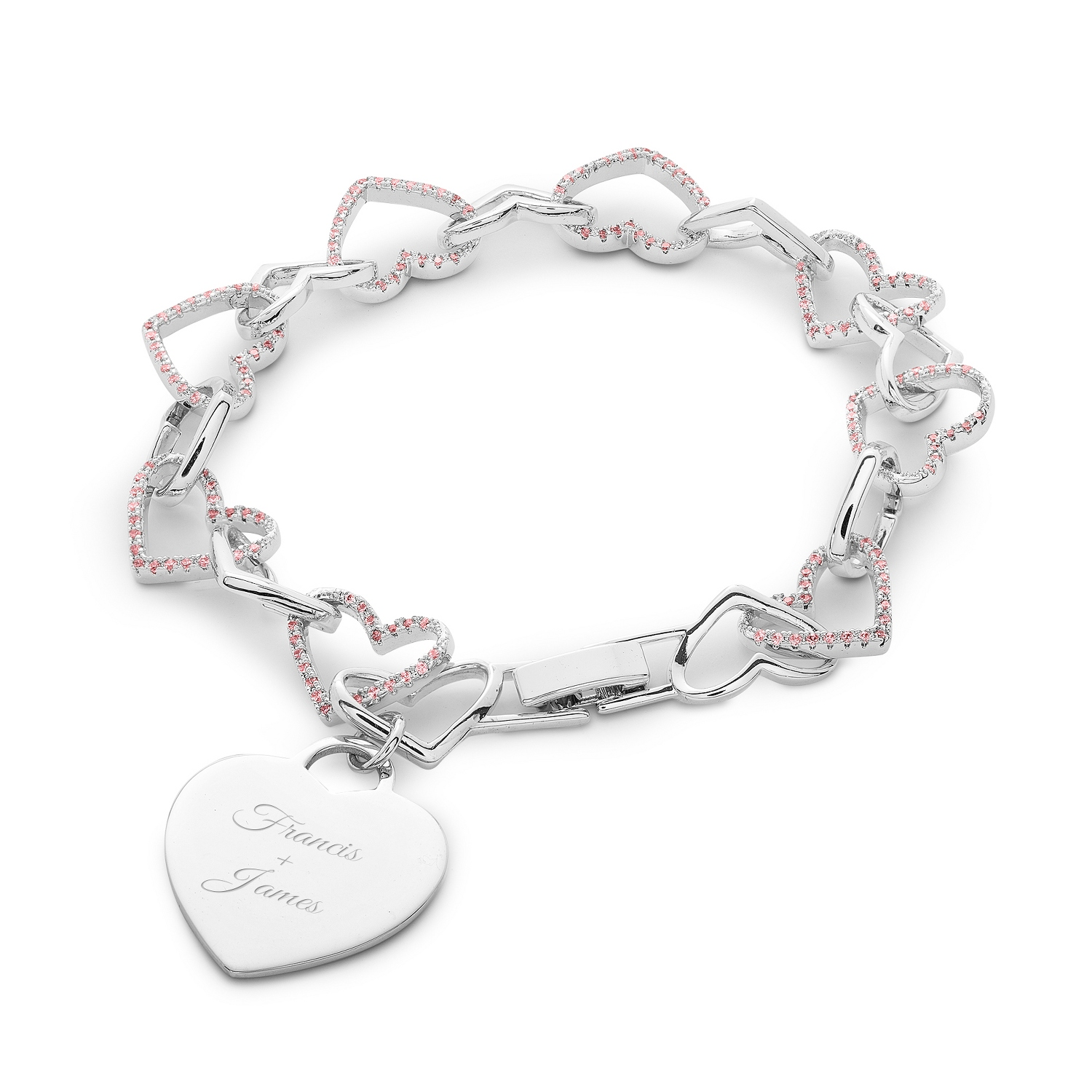 day gifts bling bracelet pbx charm pandora br heart bead silver pkwed cupid valentines wine fits wedding jewelry pink