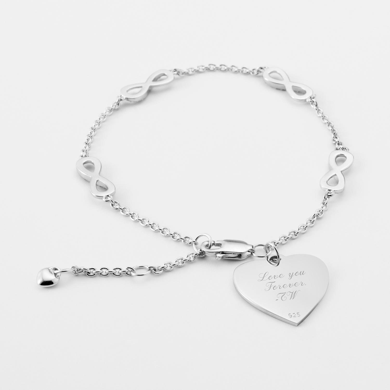 product view sparkle silver bracelet infinity alternate size bracelets os