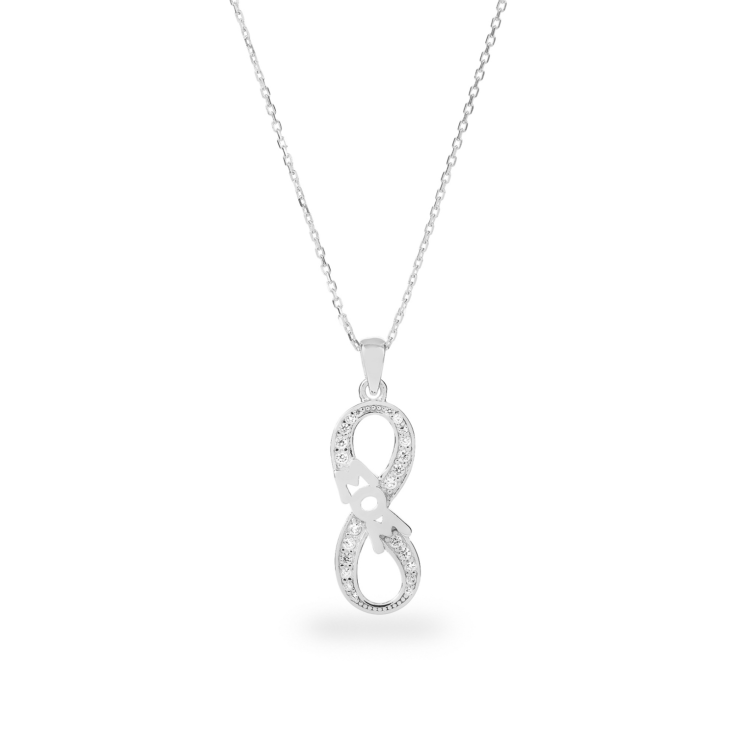sisters sign zirconia amazon necklace com silver aaa infinity cubic faith jewelry sterling dp
