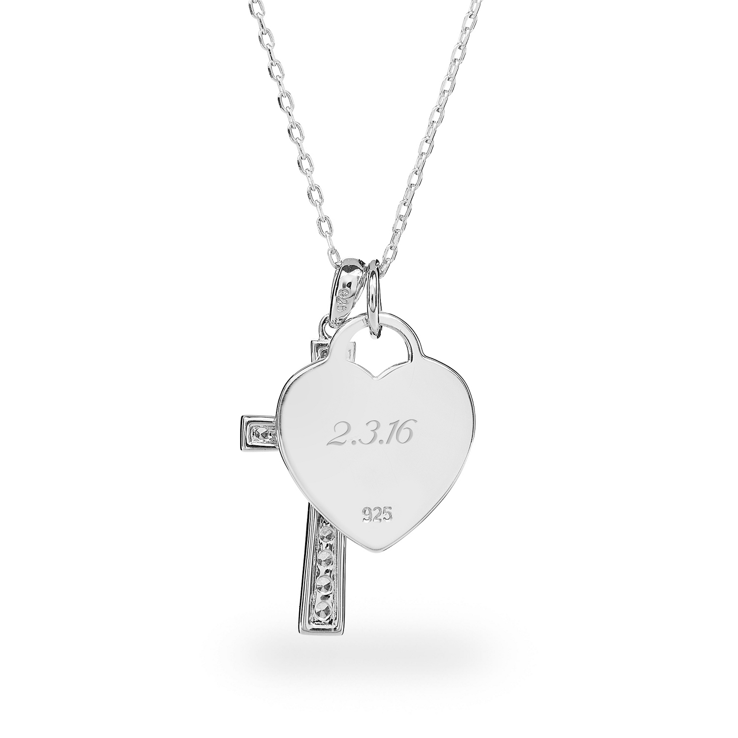 Sterling silver faith necklace aloadofball Image collections