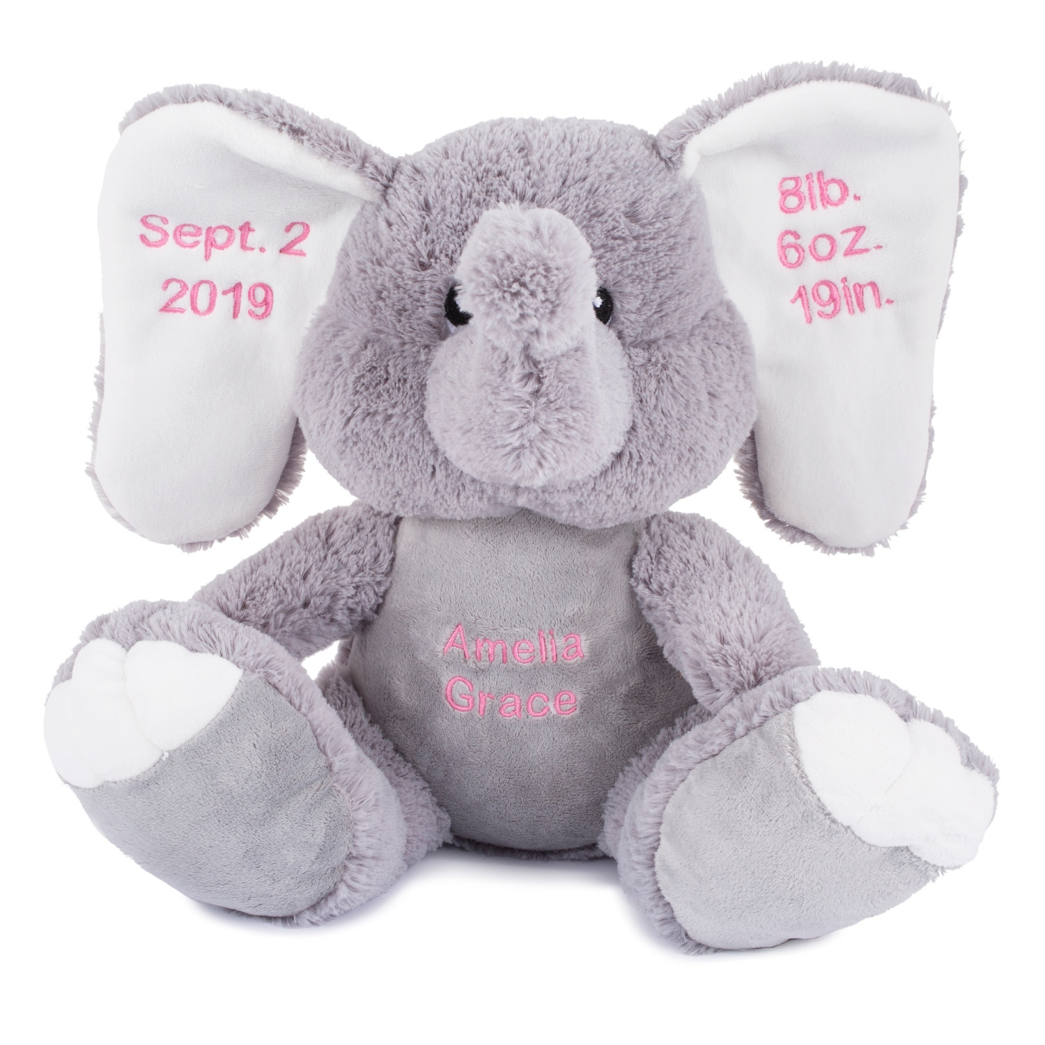 Personalized gifts for babies and newborns at things remembered plush elephant plush elephant negle Image collections