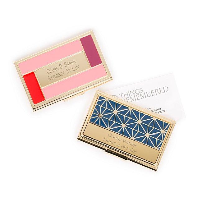 Geometric Enamel Card...