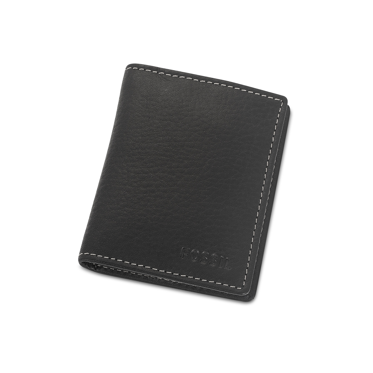 720c51efca6c5a Fossil Lincoln Black Leather Card Case Wallet